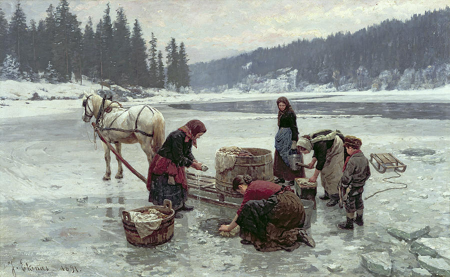 Nem csak az asszonyok fáztak, a festő is…
